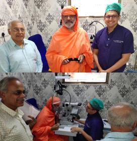 Swasthisri Charukeerthi Bhattaraka Swamiji Shravanabelagola His holiness was so pleased with surgery by Dr Sourabh Patwardhan